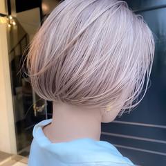 ブリーチカラー ボブ ホワイトブリーチ ハイトーン ヘアスタイルや髪型の写真・画像