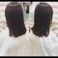 大人ミディアム セミロング 艶髪 ナチュラル ヘアスタイルや髪型の写真・画像