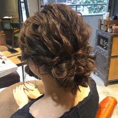 結婚式アレンジ 二次会ヘア ナチュラル 二次会アレンジ ヘアスタイルや髪型の写真・画像