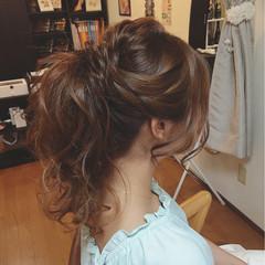 ポニーテール ヘアアレンジ ロング ヘアスタイルや髪型の写真・画像