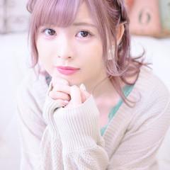 ミディアム 簡単ヘアアレンジ 編み込み ヘアアレンジ ヘアスタイルや髪型の写真・画像