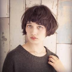 ショート モード マッシュ 秋 ヘアスタイルや髪型の写真・画像