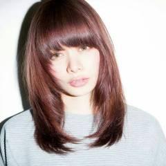 外国人風 秋 モード セミロング ヘアスタイルや髪型の写真・画像