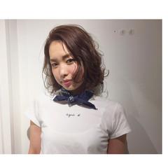 外国人風 ハイライト グレージュ ゆるふわ ヘアスタイルや髪型の写真・画像