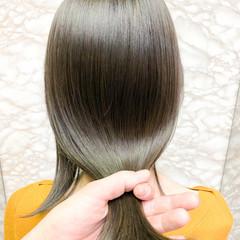 透明感カラー ナチュラル オリーブグレージュ シアーベージュ ヘアスタイルや髪型の写真・画像