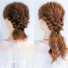 ロング 簡単ヘアアレンジ エレガント 大人女子 ヘアスタイルや髪型の写真・画像