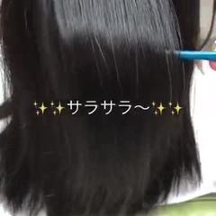 ナチュラル 髪質改善 美髪 セミロング ヘアスタイルや髪型の写真・画像
