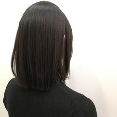 黒髪 ボブ ナチュラル ダークアッシュ ヘアスタイルや髪型の写真・画像