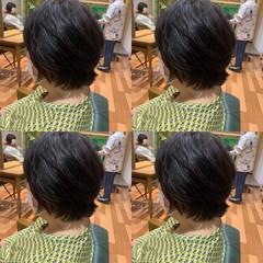 小顔ショート ショートボブ ナチュラル ボブ ヘアスタイルや髪型の写真・画像