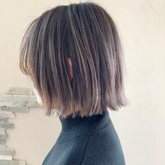 ボブ ストリート バレイヤージュ ミニボブ ヘアスタイルや髪型の写真・画像