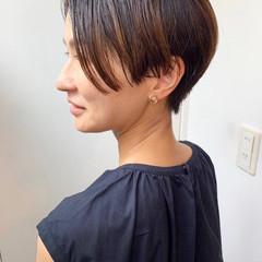マッシュショート ショート ナチュラル ハンサムショート ヘアスタイルや髪型の写真・画像