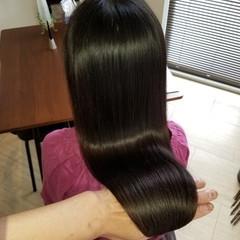 ロング 縮毛矯正 ナチュラル 髪質改善 ヘアスタイルや髪型の写真・画像