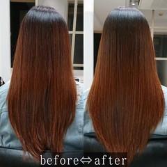 艶髪 縮毛矯正 髪質改善 髪質改善トリートメント ヘアスタイルや髪型の写真・画像