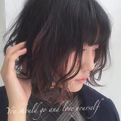 ボブ グラデーションカラー 暗髪 ストリート ヘアスタイルや髪型の写真・画像