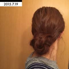 ロング ギブソンタック ヘアスタイルや髪型の写真・画像
