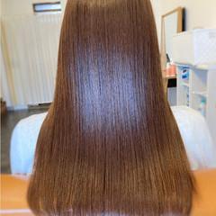 髪質改善トリートメント ロング 最新トリートメント ストレート ヘアスタイルや髪型の写真・画像