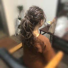リボンアレンジ ヘアセット ガーリー 結婚式 ヘアスタイルや髪型の写真・画像