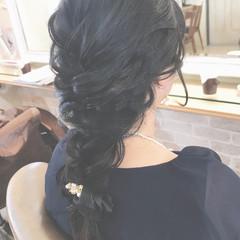 簡単ヘアアレンジ 結婚式 上品 ロング ヘアスタイルや髪型の写真・画像
