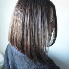 色気 ボブ ナチュラル 切りっぱなし ヘアスタイルや髪型の写真・画像