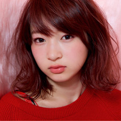 女子力 ストリート ガーリー ピンク ヘアスタイルや髪型の写真・画像