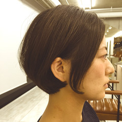 ナチュラル ショートボブ ボブ ヘアスタイルや髪型の写真・画像