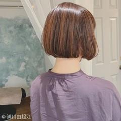 グラデーションカラー ゆるふわ ボブ ナチュラル ヘアスタイルや髪型の写真・画像