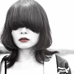 マッシュ ミディアム モード ウルフカット ヘアスタイルや髪型の写真・画像