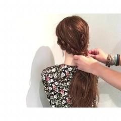 涼しげ 簡単ヘアアレンジ ロング 夏 ヘアスタイルや髪型の写真・画像