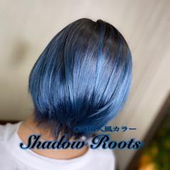 モード ショートヘア グラデーションカラー ボブ ヘアスタイルや髪型の写真・画像