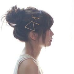 ロング ショート ヘアアレンジ お団子 ヘアスタイルや髪型の写真・画像