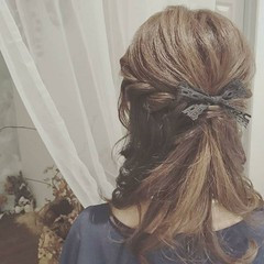 冬 大人かわいい パーティ フェミニン ヘアスタイルや髪型の写真・画像