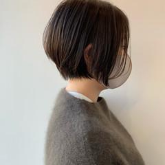 ショートヘア 切りっぱなしボブ ショートボブ ベリーショート ヘアスタイルや髪型の写真・画像
