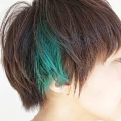 ショート ストリート ガーリー ダブルカラー ヘアスタイルや髪型の写真・画像