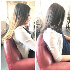 フェミニン ロング 透明感 透明感カラー ヘアスタイルや髪型の写真・画像