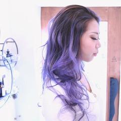 バレイヤージュ 謝恩会 グラデーションカラー ストリート ヘアスタイルや髪型の写真・画像