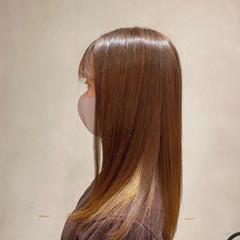 インナーカラー 髪質改善カラー 髪質改善 エレガント ヘアスタイルや髪型の写真・画像