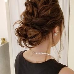 セミロング デート 結婚式ヘアアレンジ 結婚式 ヘアスタイルや髪型の写真・画像