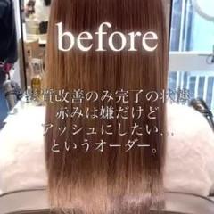 ロングヘア 髪質改善カラー ロング 髪質改善トリートメント ヘアスタイルや髪型の写真・画像