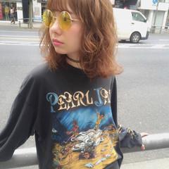 外国人風 ミディアム ストリート ハイライト ヘアスタイルや髪型の写真・画像