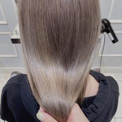 モード セミロング ベージュ 透明感カラー ヘアスタイルや髪型の写真・画像