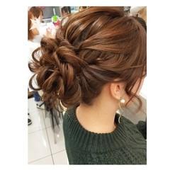 成人式 セミロング コンサバ 謝恩会 ヘアスタイルや髪型の写真・画像