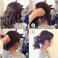 フェミニン ゆるふわ 大人女子 ヘアアレンジ ヘアスタイルや髪型の写真・画像