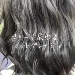 フェミニン エフォートレス 外国人風カラー ミディアム ヘアスタイルや髪型の写真・画像