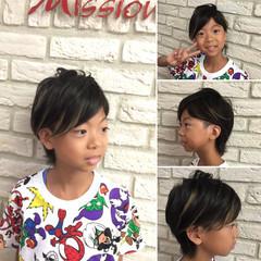 ショート 子供 かっこいい エクステ ヘアスタイルや髪型の写真・画像