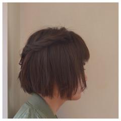 簡単ヘアアレンジ 大人かわいい ゆるふわ 前髪あり ヘアスタイルや髪型の写真・画像