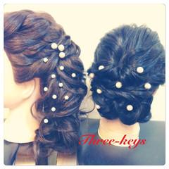 結婚式 大人かわいい セミロング 艶髪 ヘアスタイルや髪型の写真・画像
