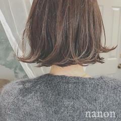 デート ボブ ナチュラル 冬 ヘアスタイルや髪型の写真・画像