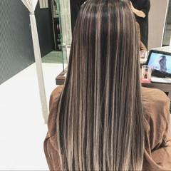 ロング バレイヤージュ ストリート デート ヘアスタイルや髪型の写真・画像