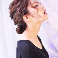 愛され 編み込み モテ髪 コンサバ ヘアスタイルや髪型の写真・画像