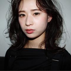 透明感 パーマ ミディアム 女子力 ヘアスタイルや髪型の写真・画像
